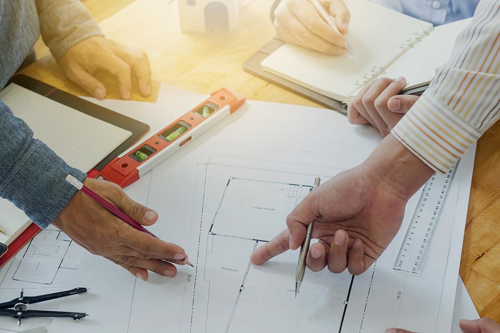 Architect Engineer Meeting People Brainstorming Concept
